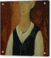 Young Man With A Black Waistcoat Acrylic Print