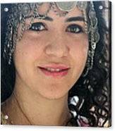Young Palestinian In Traditional Dress In Bethlehem Acrylic Print