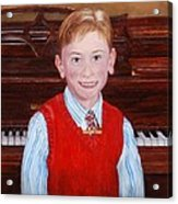 Young Piano Student Acrylic Print