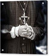 Young Renaissance Priest Acrylic Print