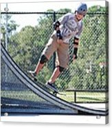 Young Skateboarder Acrylic Print