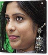Young Woman India Day Parade Nyc 2012 Acrylic Print