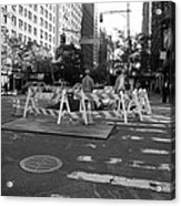 Your Tax Dollars At Work In Black And White Acrylic Print