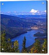 Yukon River In Fall Colors Acrylic Print