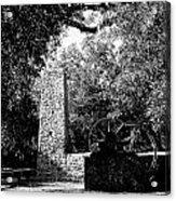Yulee Sugarmill 2  Black And White Acrylic Print