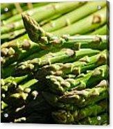 Yummy Asparagus Acrylic Print by Connie Cooper-Edwards
