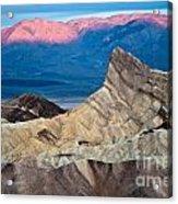 Zabriskie Point Dawn Acrylic Print by Jim Chamberlain
