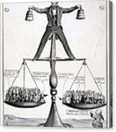 Zachary Taylor, Political Cartoon Acrylic Print