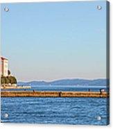 Zadar Pier On The Adriatic Sea Acrylic Print