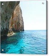 Zakynthos Blue Caves Acrylic Print