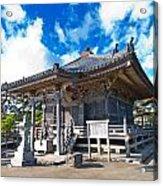 Zen Garden At A Sunny Morning Acrylic Print