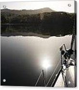 Zen Morning On A Sailing Boat Acrylic Print