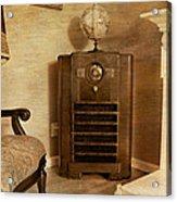 Zenith Consol Radio 1940's  Acrylic Print by Paul Ward