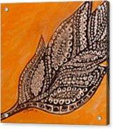 Zentangle Leaf Acrylic Print