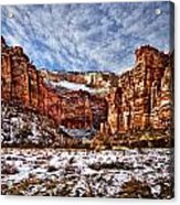 Zion Canyon In Utah Acrylic Print