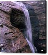 Zion Summer Waterfall Acrylic Print