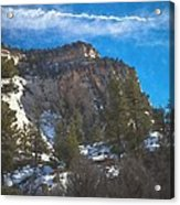 Zion Winter Moment Acrylic Print