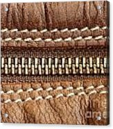 Zipper And Leather Detail Acrylic Print
