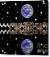 Zipper And Planets Acrylic Print