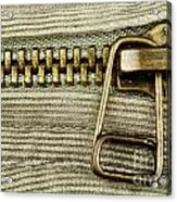 Zipper Detail Close Up Acrylic Print by Blink Images