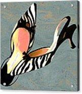 Zippy Zebra Slings Acrylic Print