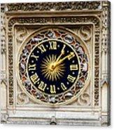Zodiac Clock Acrylic Print