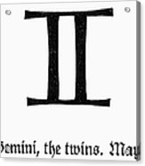 Zodiac: Gemini Acrylic Print