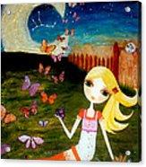 Zodiac Virgo Acrylic Print by Laura Bell