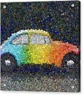 Zodiac Vw Bug Mosaic Acrylic Print
