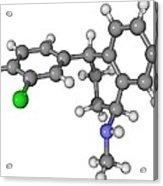 Zoloft Antidepressant Drug Molecule Acrylic Print by Laguna Design