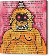 Zombie Buddha Acrylic Print