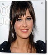 Zooey Deschanel At Arrivals For 500 Acrylic Print by Everett
