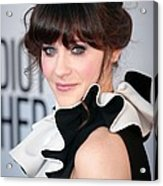 Zooey Deschanel  Wearing A Moschino Acrylic Print