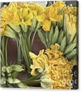 Zucchini Blossoms Acrylic Print