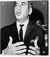 Zulfikar Bhutto At A 1965 Press Acrylic Print by Everett