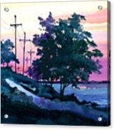 Evening Coast Acrylic Print