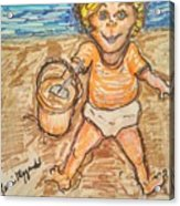 Playing In The Sand Acrylic Print