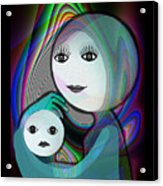 044 - Full Moon  Mother And Child   Acrylic Print