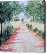 A Country Road Acrylic Print