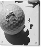 A Golf Ball On Holiday Acrylic Print