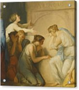 A Group Of Female Mourners At The Tomb Of Achilles Acrylic Print