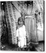 American Indian Woman Female Daughter 1890s Acrylic Print