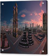 Amsterdam City Nighttime Image Acrylic Print