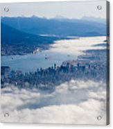 An Aerial View Of Vancouver Acrylic Print by Taylor S. Kennedy