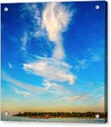 Angel  Walking On Air  Acrylic Print