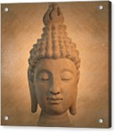Antique Oil Effect Buddha Sukhothai , Acrylic Print