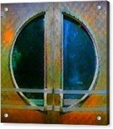 Art Deco Door In Halifax Nova Scotia Acrylic Print