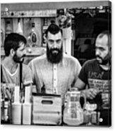 Three Barmen Acrylic Print