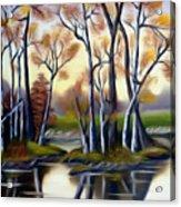 Birch Bay Lagoon Dreamy Mirage Acrylic Print