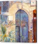 Blue Door  Acrylic Print by Dorothy Boyer